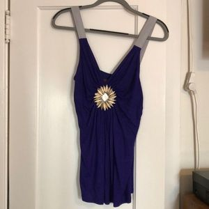 Prairie tank top with sunflower detailing.